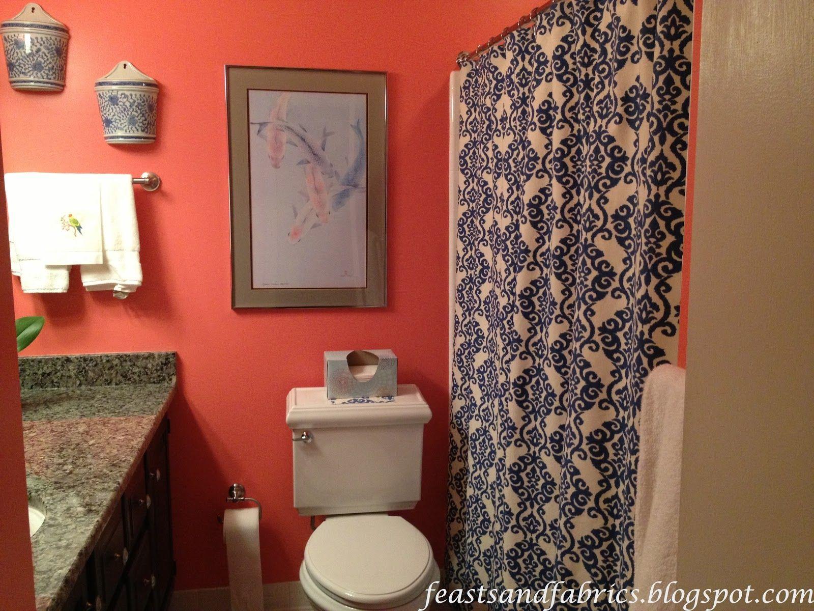 Feasts And Fabrics Coral Bathroom Coral Bathroom Decor