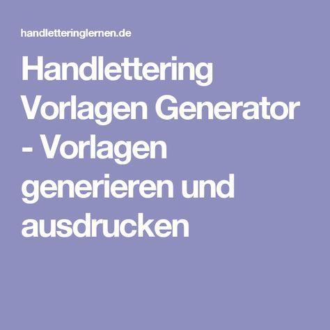Anleitung Zum Handlettering Vorlagen Generator 13