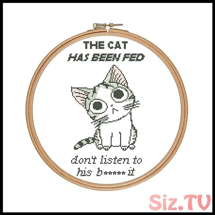 Buy 2 Get 1 FREE The Cat s Bt Cross Stitch PDF Pattern Cat Quote Funny Quote Pet Owner Sarcastic Sassy Quote Subversive Buy 2 Get 1 FREE The Cat s Bt Cross Stitch PDF Pat...
