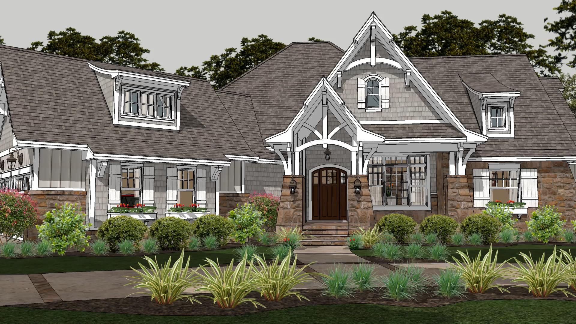Clear Creek Cottage Charming craftsman one story house with bonus room