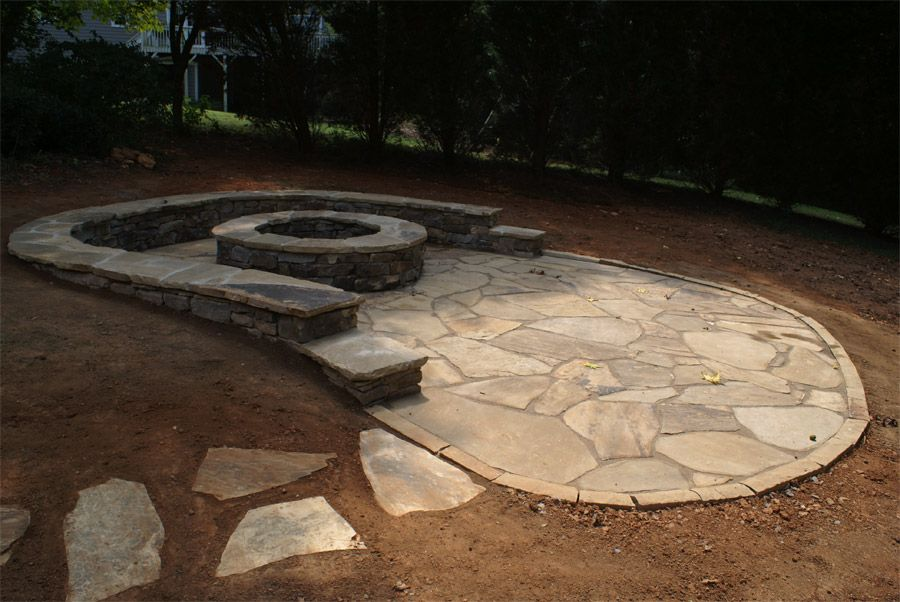 Canyon Creek Flagstone Patio With Gator Dust Filler Between