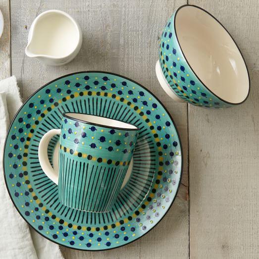 Potteru0027s Workshop Dinnerware - Sage Green West Elm love these salad plates! & Potteru0027s Workshop Dinnerware Set - Sage Green | Kitchen Products ...
