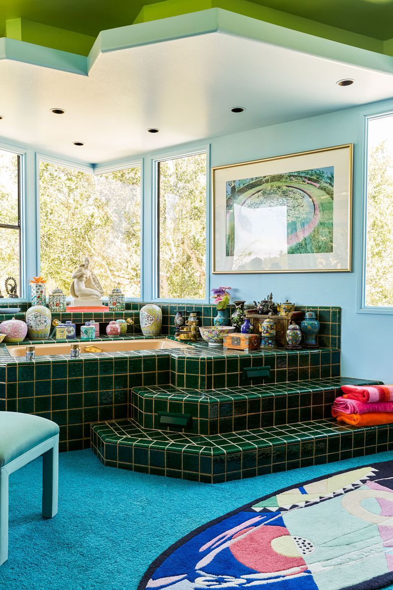 Artist S Home In Santa Barbara Is A Color Lover S Dream Italian Furniture Modern Home Dining Room Walls