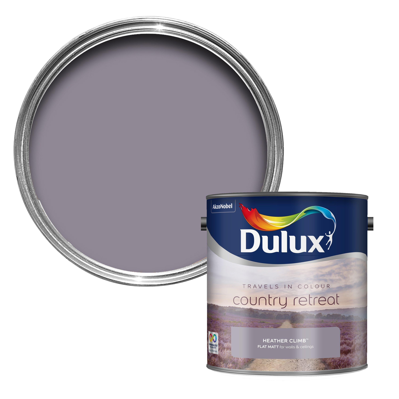 Dulux Travels In Colour Heather Climb Purple Matt Emulsion