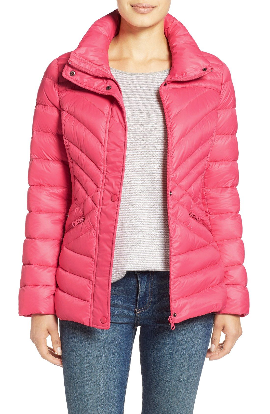 2829813eb Halogen® Hooded Quilted Down Jacket | 2017 Puffers | Jackets, Coats ...