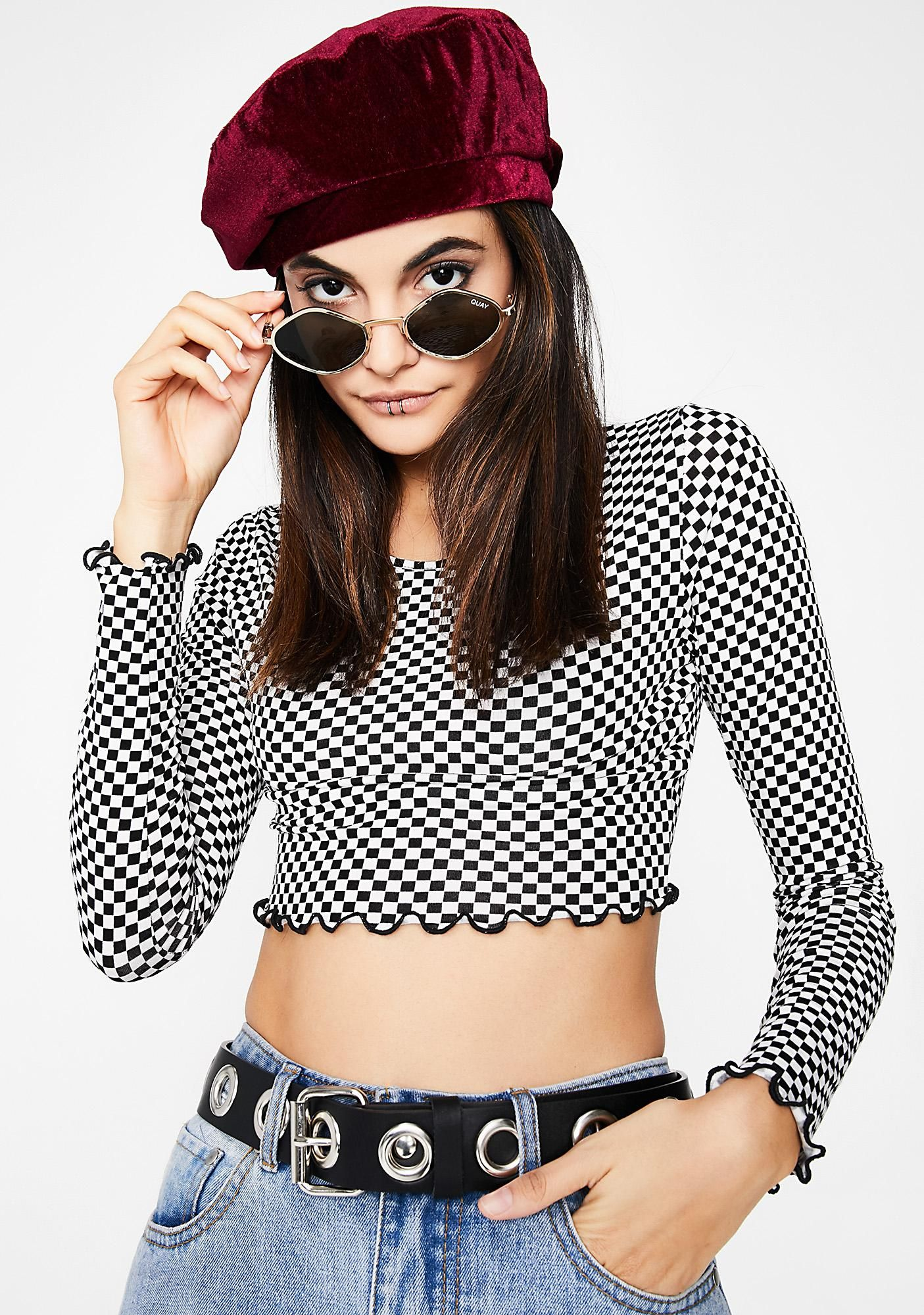 2453c1ad410 Chex In Motion Crop Top. Rock FashionFashion ShopsLong Sleeve ...