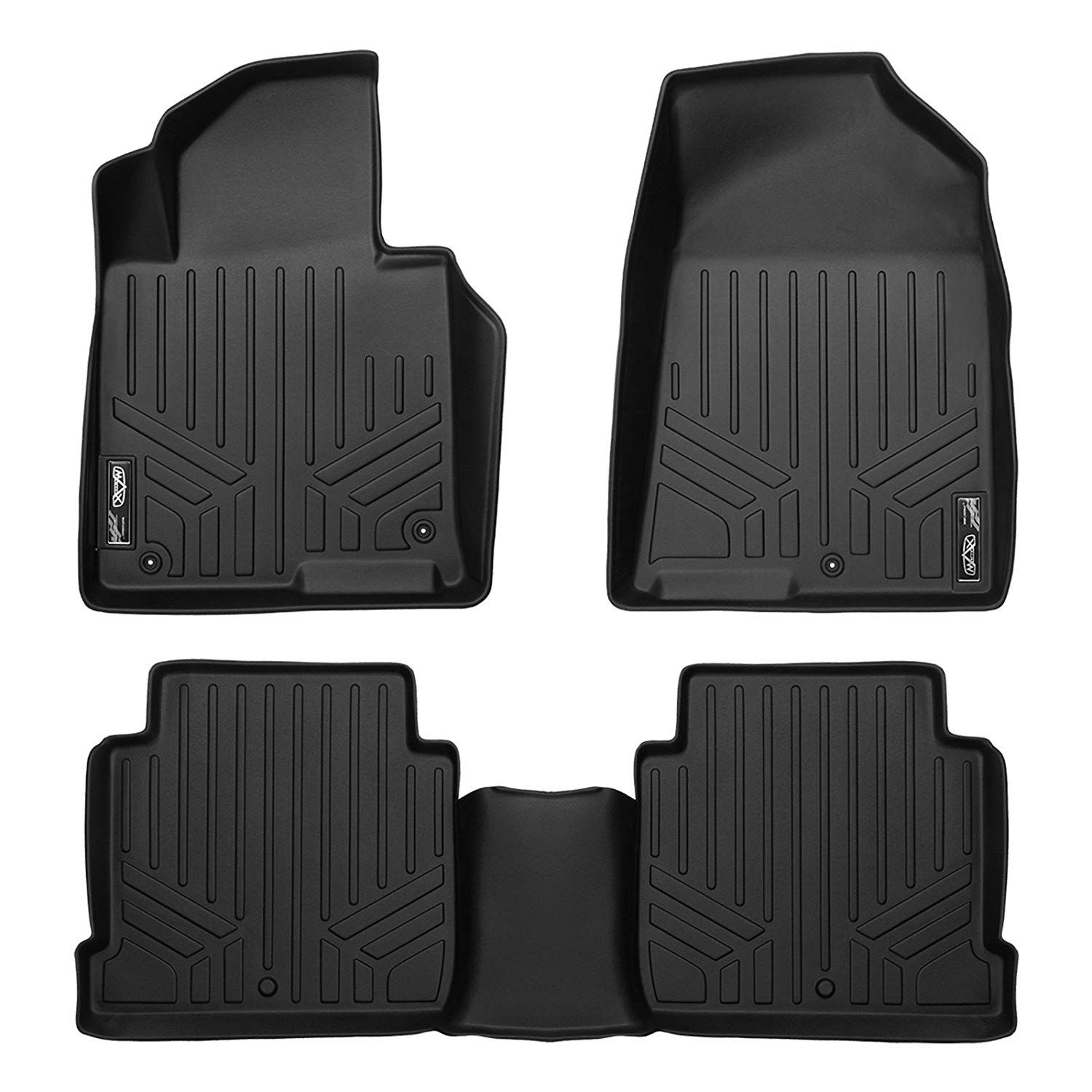 SMARTLINER Floor Mats 2 Row Liner Set Black for 2016-2018 Honda HR-V