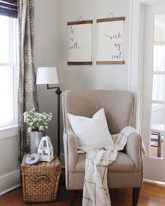 Sitting Area In Master Bedroom Living Room Corner Farm House