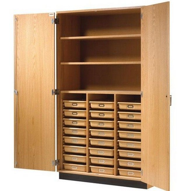 New Tall Wood Storage Cabinets With Doors Decoration