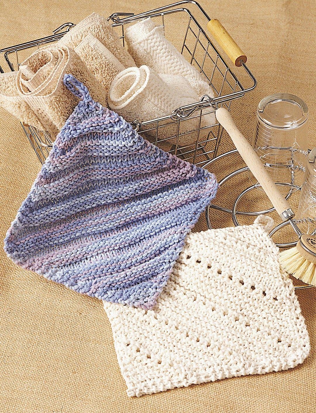 Yarnspirations.com - Lily Simple Ridge & Eyelet Dishcloth ...