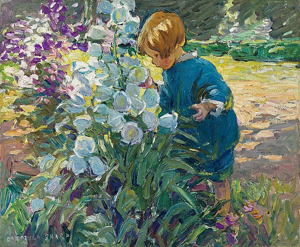 Canterbury Bells by Dorothea Sharp.  Captures the childlike wonder of nature.