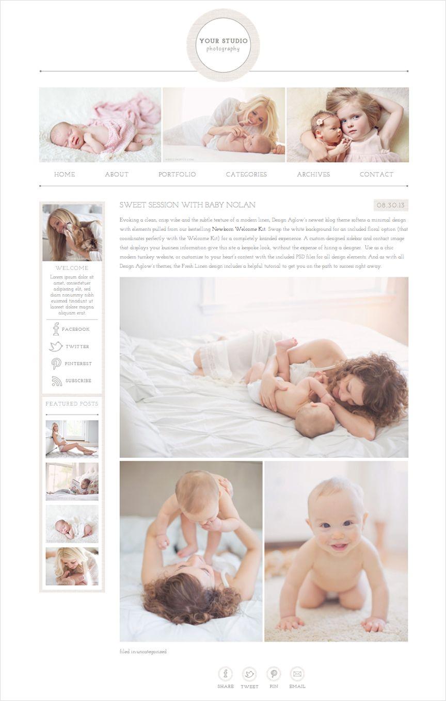 Meet GoLive Makers Of Design Aglow For Squarespace Portrait Photography Design Web Design