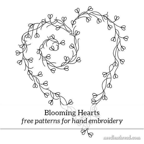 Blooming Hearts – Free Hand Embroidery Pattern & Stitch Ideas