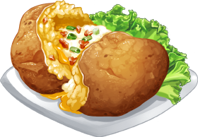 Cw2 Dish Twicebakedstuffedpotatoes Large Png Food Food Illustrations Food Sketch