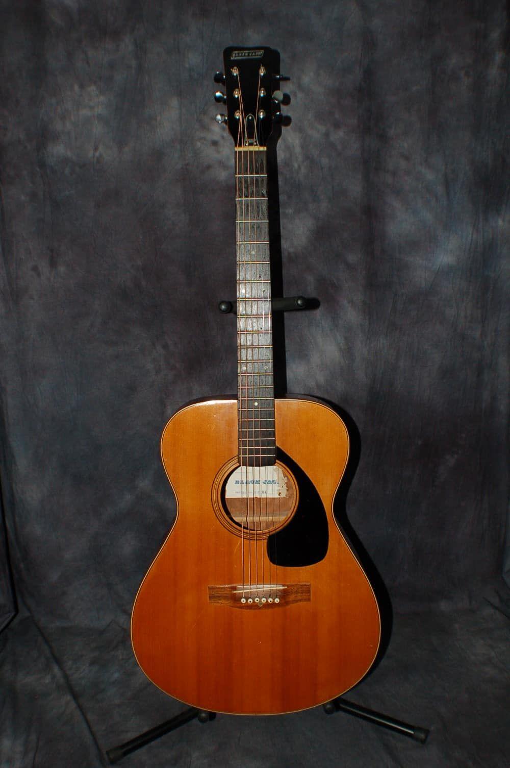 1967 Black Jack Model Hf 61 Acoustic Guitar Japan Matsomoku New Strings Lawman Guitars Reverb Vintage Guitars Guitar Cool Guitar