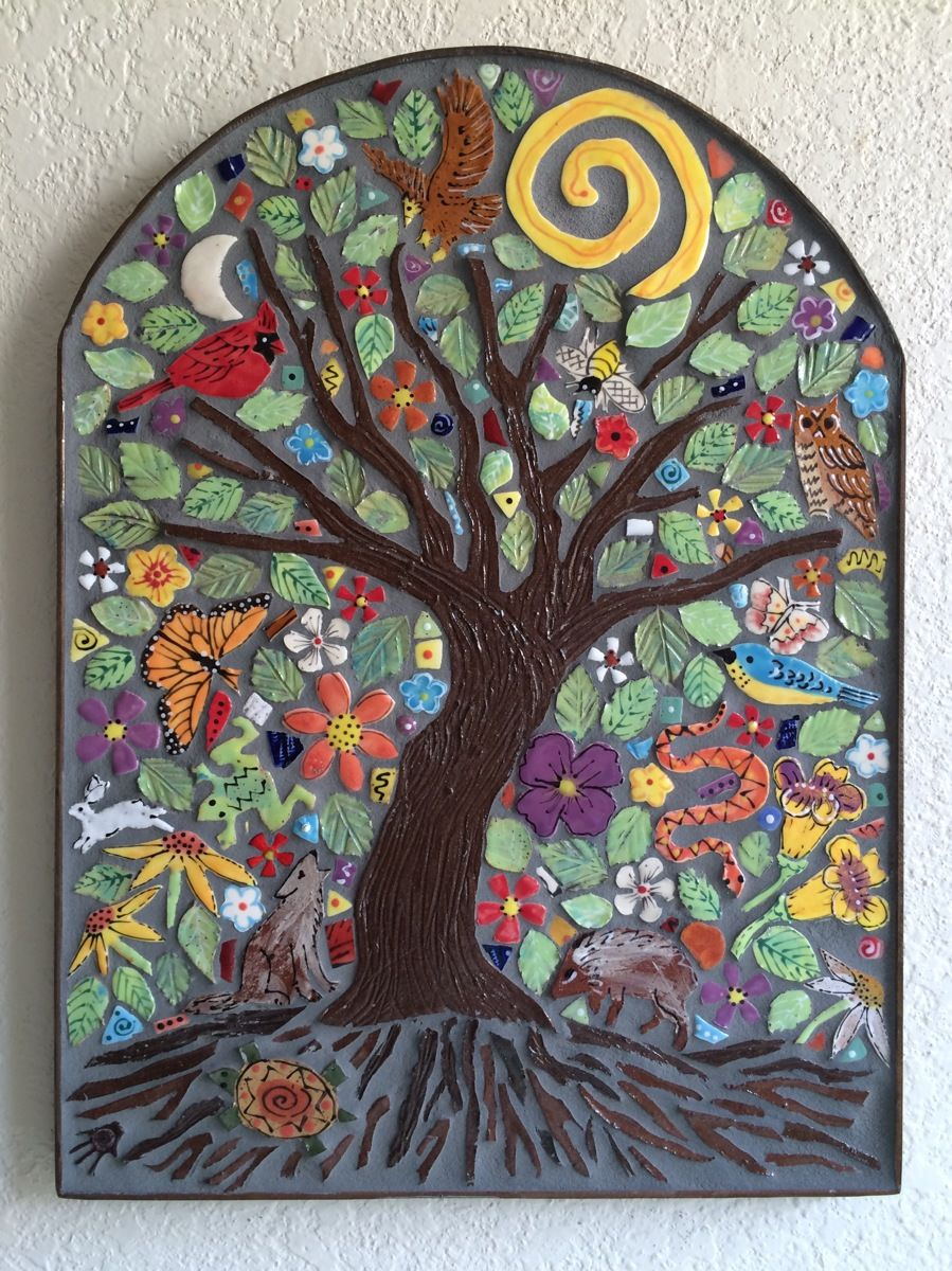 Tree Of Life Tiles Pinterest Mosaics Pottery And