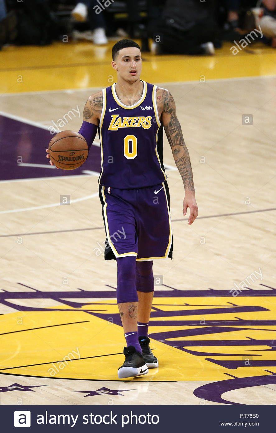 Download This Stock Image February 27 2019 Los Angeles California U S Los Angeles Lakersa Kyle Kuzma In 2020 Kyle Kuzma Los Angeles Lakers Nba Basketball Game