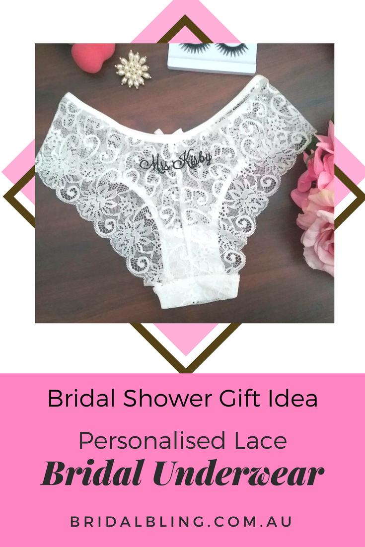 Personalised lingerie, Bridal underwear, underwear for bride, Mrs ...