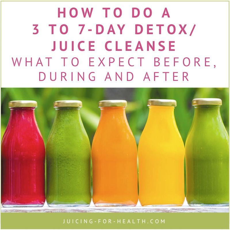 3 to 7Day DetoxJuice Cleanse  What To Expect Before During And After