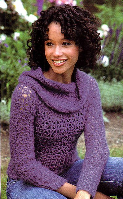 Ravelry: Lush Cowl-Neck Sweater pattern by SweaterBabe SweaterBabe ...