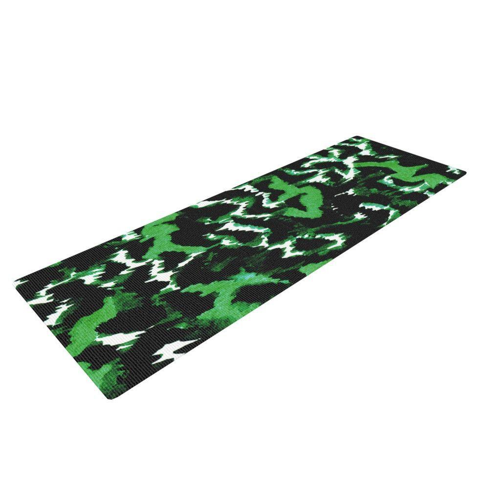"Ebi Emporium ""Wild at Heart - Green"" Emerald Yoga Mat"