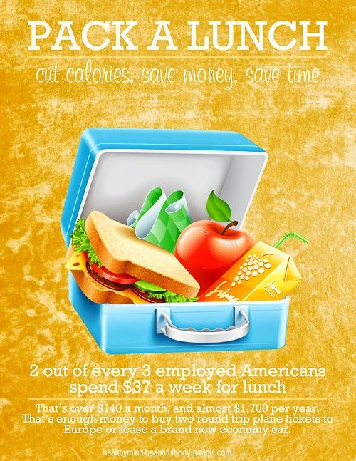 Isn't it time you save some money & eat a lot more healthier! #Pack a #Lunch