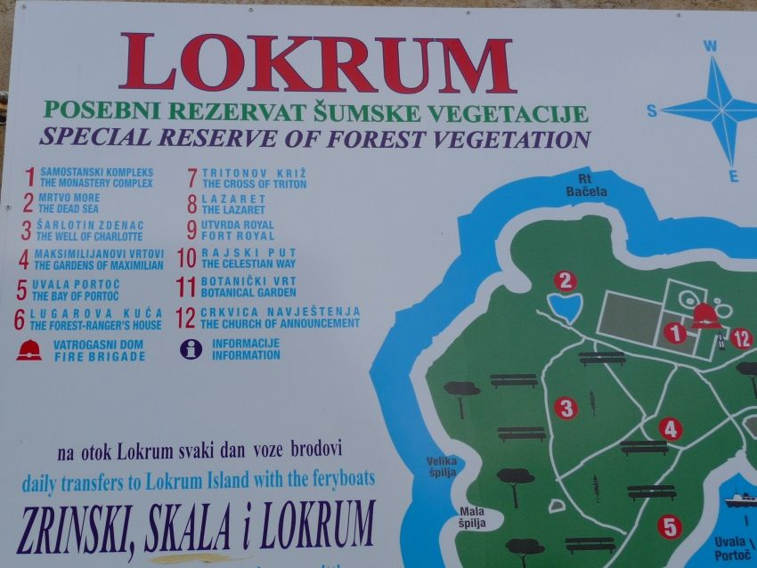 Map of Lokrum Croatia  next stop balkan  Pinterest