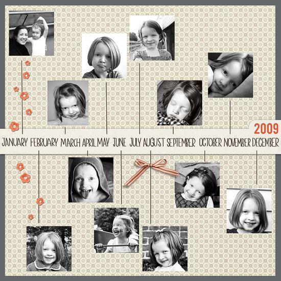 Year Of Ella Digital Scrapbook Page Using Paislee Press Supplies