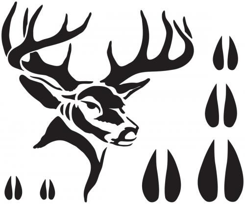 Sweet image within free printable deer stencils