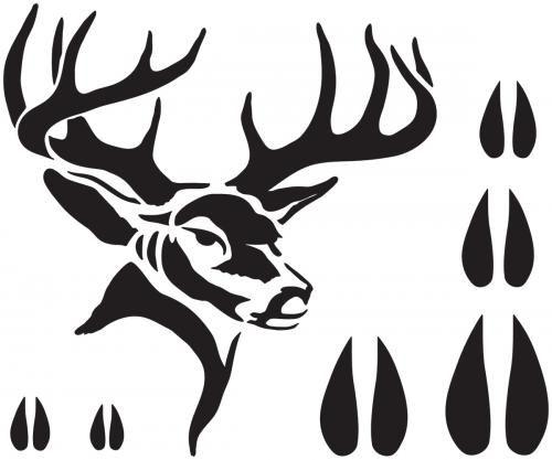Deer Bucks Stencils Deer Stencil 7x9 Deer Stencil Wood