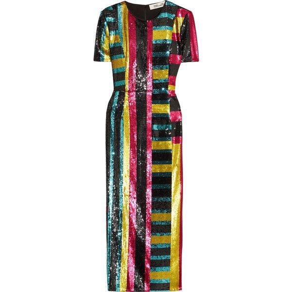 Diane von Furstenberg Sequined tulle midi dress (33.855 ARS ...
