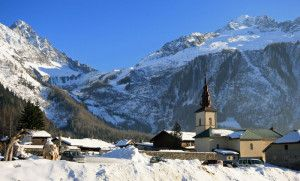 argentiere village church