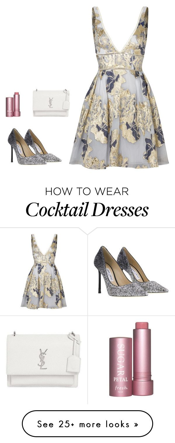 """""""Untitled #896"""" by alwateenalr on Polyvore featuring Notte by Marchesa, Jimmy Choo and Yves Saint Laurent"""