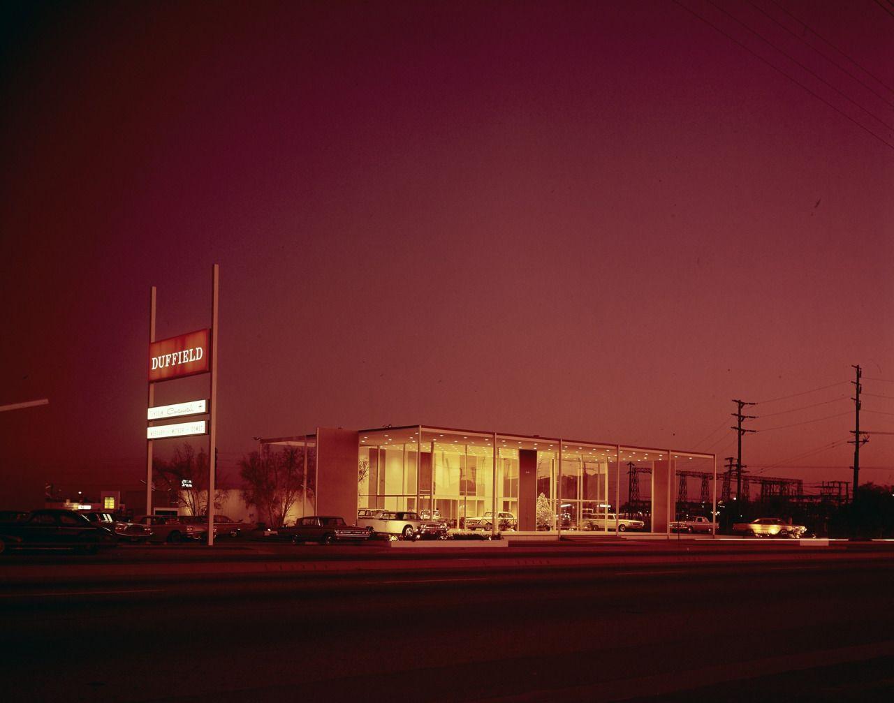 1963 duffield lincolnmercury dealership showroom long