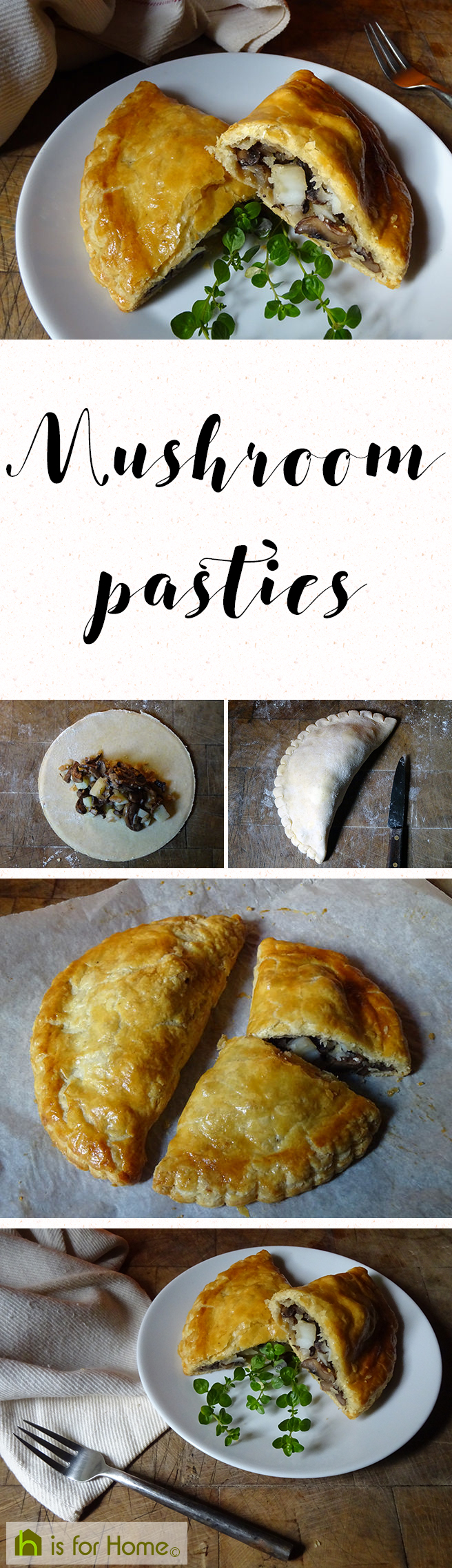 To mark #SourdoughSeptember I made mushroom pasties with sourdough pastry. Get the #recipe here☞ http://4ho.me/2glXQsH #fdbloggers #food