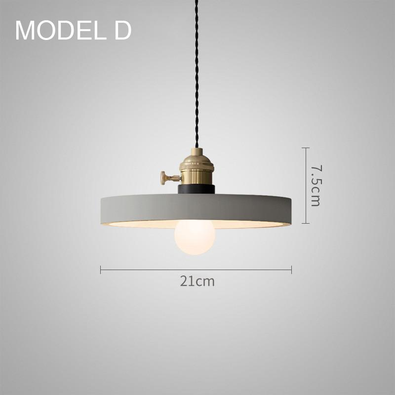 Concrete Vasa Minimalist Pendant Light #pendantlighting