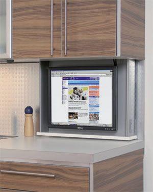 Cool Idea For Hiding A Monitor Keuken