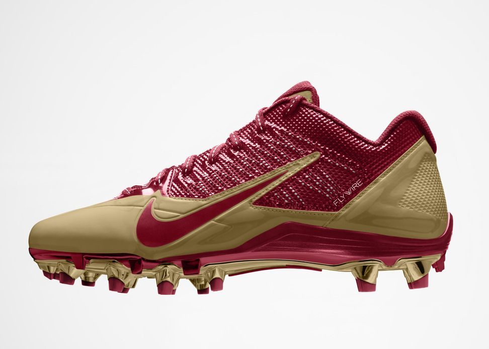 49ers Nike Alpha Pro Cleat Therareairs Com Cleats Football Cleats Football Shoes
