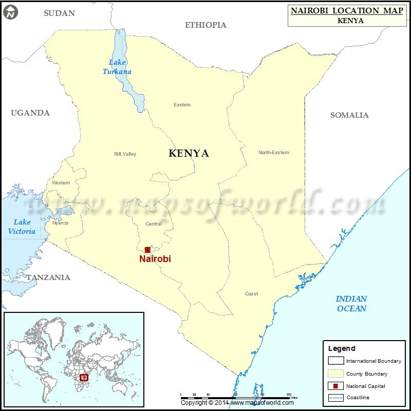 Where in the world is nairobi map africa kenya location where is nairobi location of nairobi in kenya map gumiabroncs Image collections