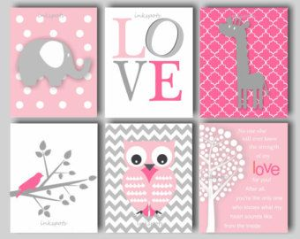 Baby Girl Owl Nursery Art My Sunshine Nursery by inkspotsgallery