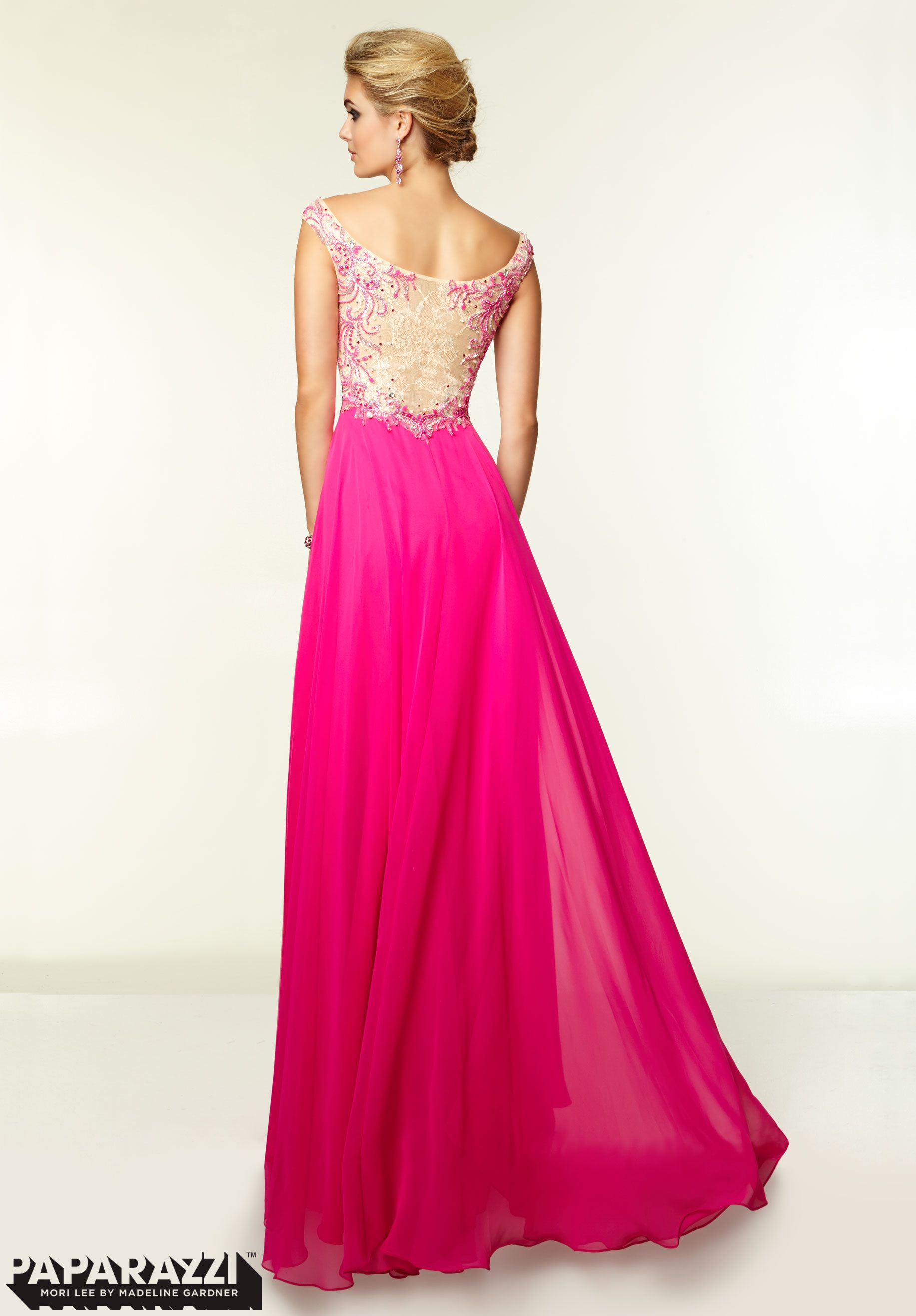 Prom Dresses / Gowns Style 97003: Beaded Lace and Chiffon http://www ...