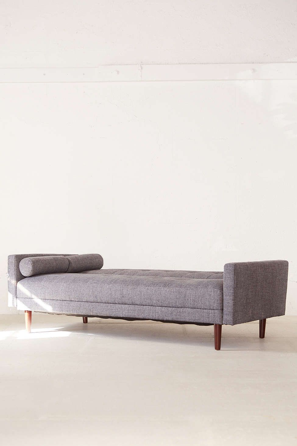 This Fold Down Sleeper Sofa That Is Made With Tweed Fabric
