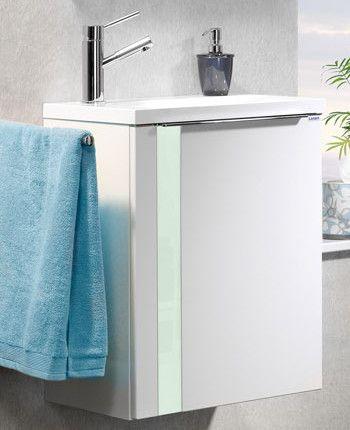 Lanzet Vedro Gäste-WC 50 cm links, Weiß - Mint Jetzt bestellen unter - moderne badezimmermbel