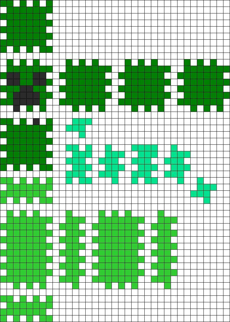 3d Perler Bead Patterns 3d Minecraft Creeper Perler Bead