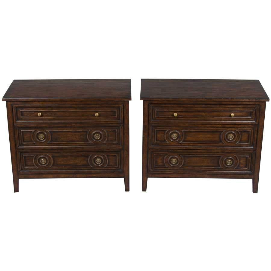 Best Reproduction Pair Of Nightstands In Dark Oak Vintage 400 x 300