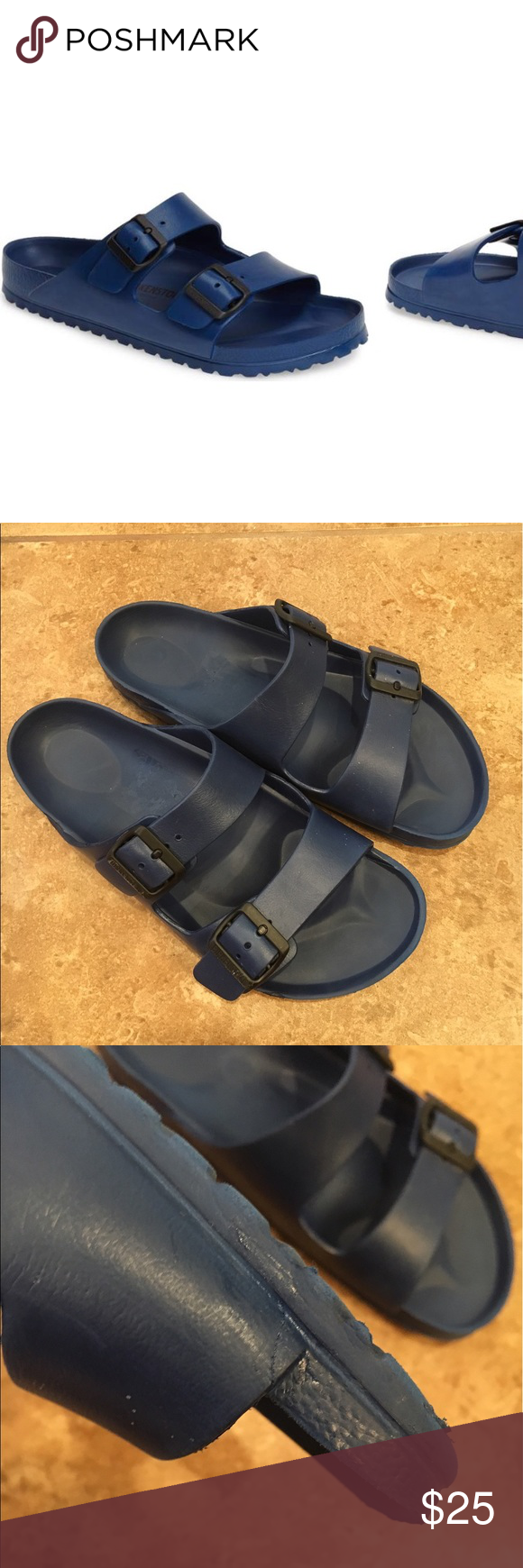 a0520832810 Birkenstock Essentials-Arizona EVA Navy blue Waterproof slide sandal ...