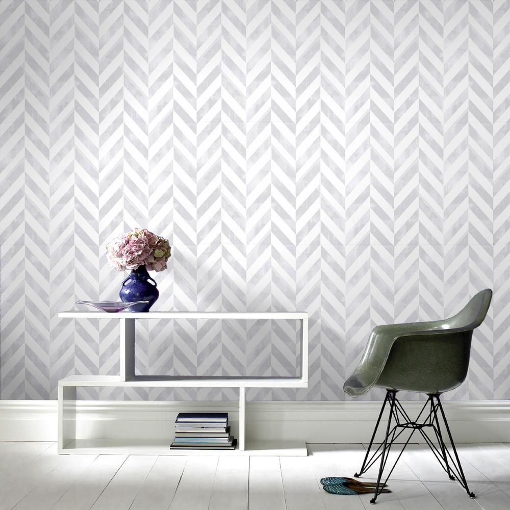 Graham Brown Symmetry Italie Silver Removable Wallpaper 103294 The Home Depot Silver Removable Wallpaper Wallpaper Decor Silver Wallpaper