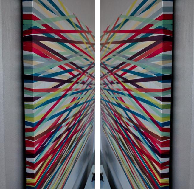 Easy Diy Washi Tape Art Diy Washi Tape Art Tape Art Tape Wall Art