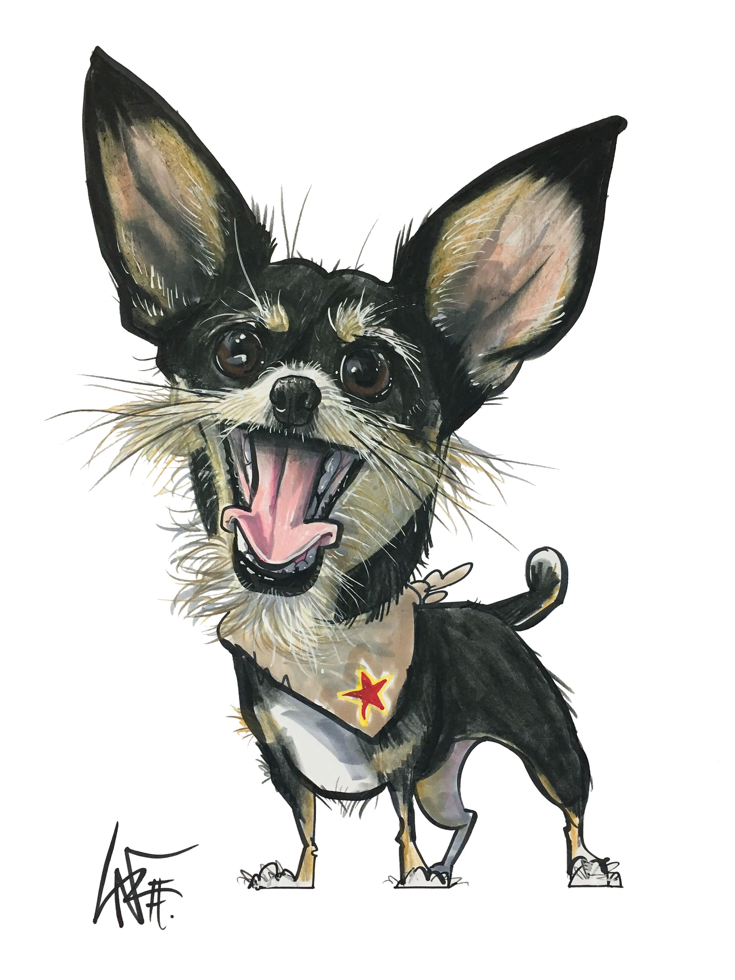 Custom Pet Portraits At Caninecaricatures Com Pet Portraits