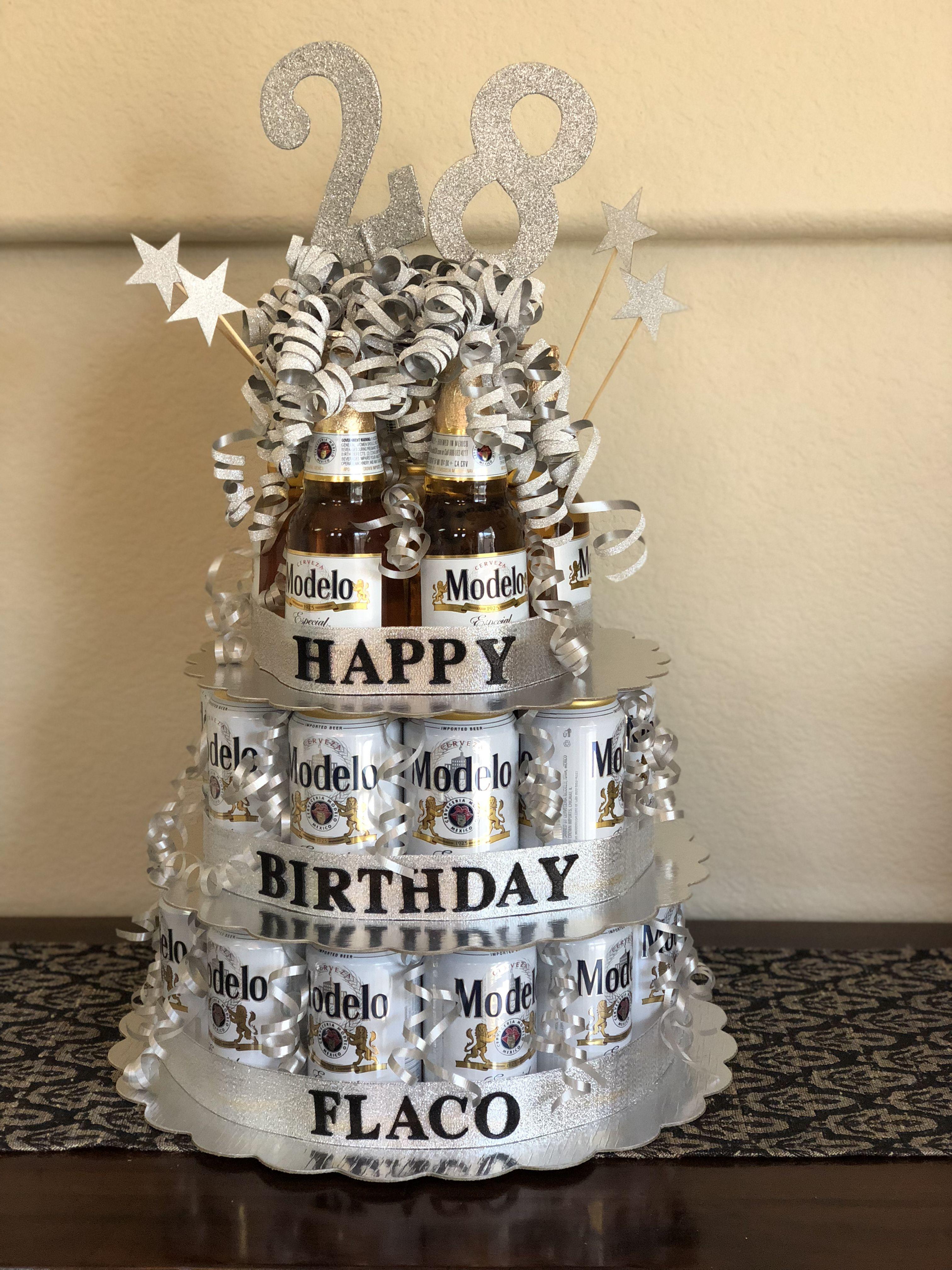 Modelo Beer Birthday Cake Diy Beer Birthday Party